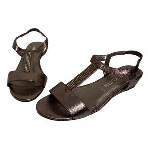 NEW Anne Klein Melissa iflex Wedge Sandal Pewter